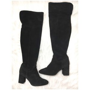 Zara Trafaluc Over The Knee High Tall Suede Boots